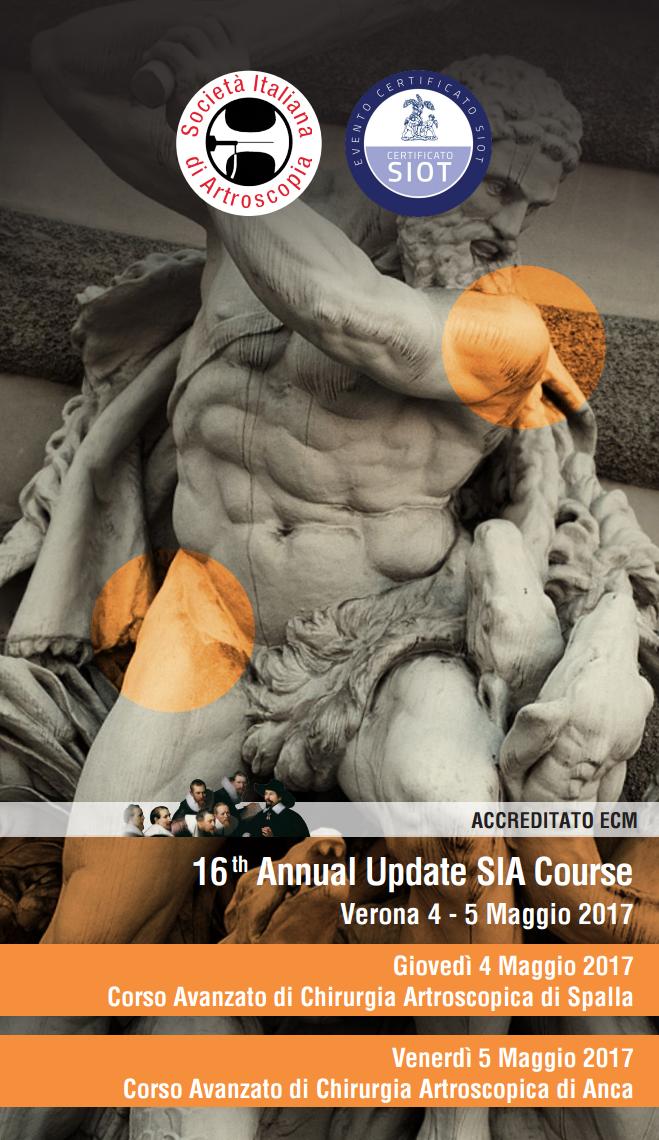 16 annual update SIA course 2017 - chirurgia artroscopica di anca